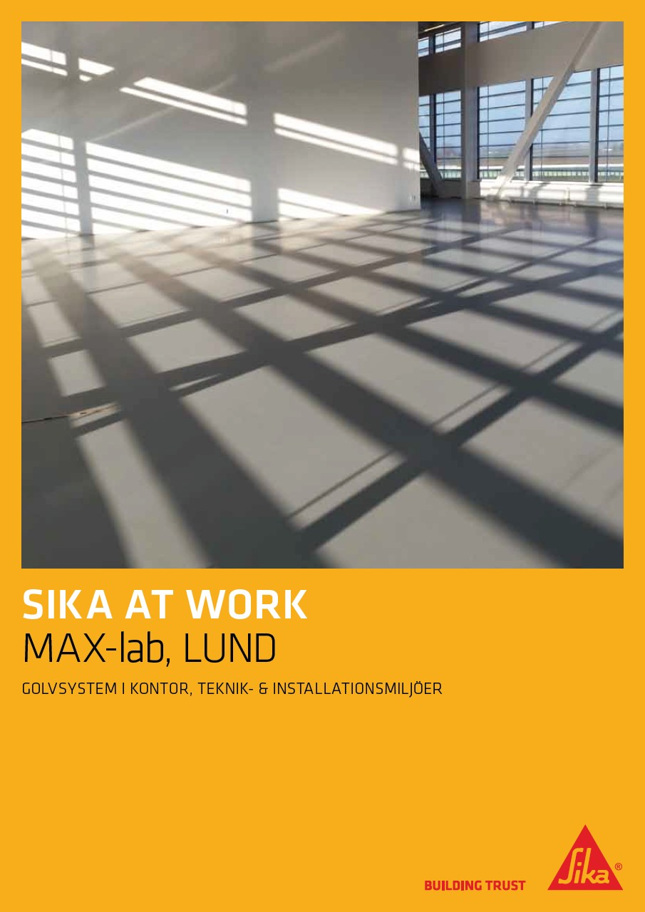 Sikafloor® HyCem® - Sika at Work - Max-lab. i Lund